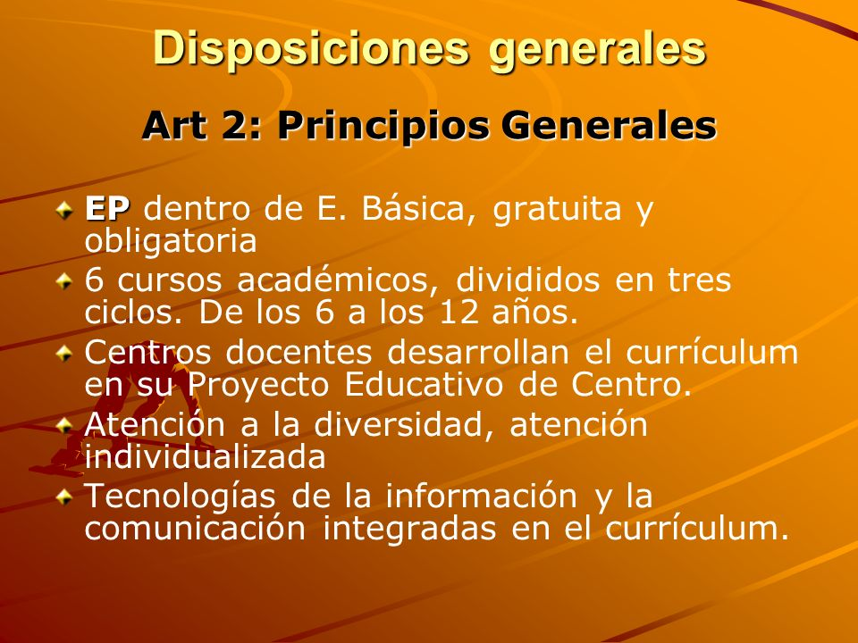Disposiciones generales Art.