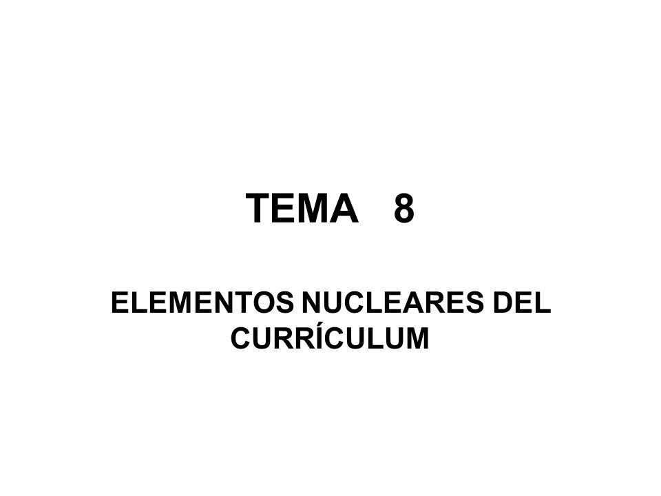 TEMA 8 ELEMENTOS NUCLEARES DEL CURRÍCULUM