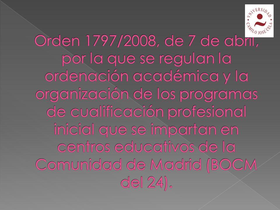 Art.13 DC= organización y metodología específicas.