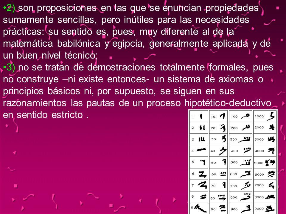04/02/2014116 2) son proposiciones en las que se enuncian propiedades sumamente sencillas, pero inútiles para las necesidades prácticas: su sentido es