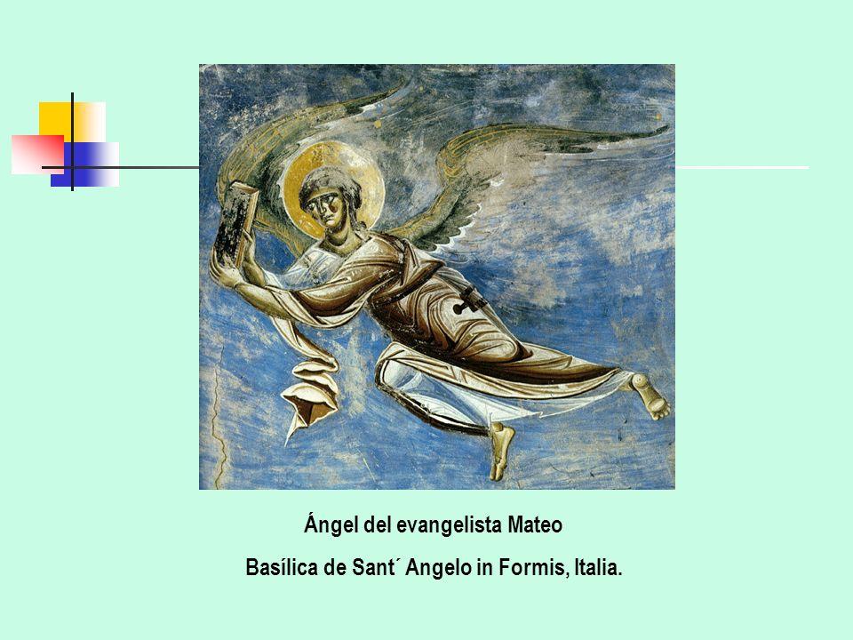 Ángel del evangelista Mateo Basílica de Sant´ Angelo in Formis, Italia.