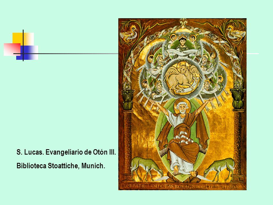 S. Lucas. Evangeliario de Otón III. Biblioteca Stoattiche, Munich.