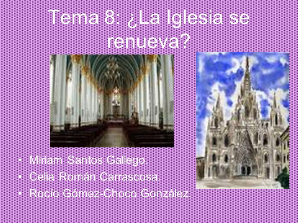 ÍNDICE 1.Características de la época. 2. Historia de la Iglesia.
