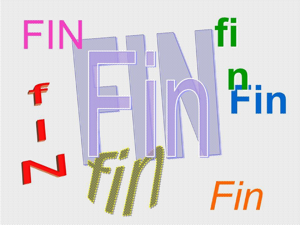 Fin Fin FIN fi n