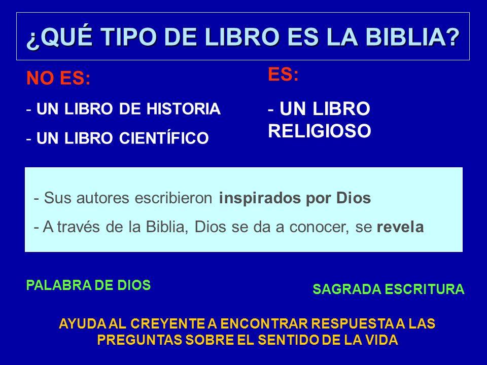 Una historia de 2.000 años La Biblia recoge casi 2.000 años de historia.