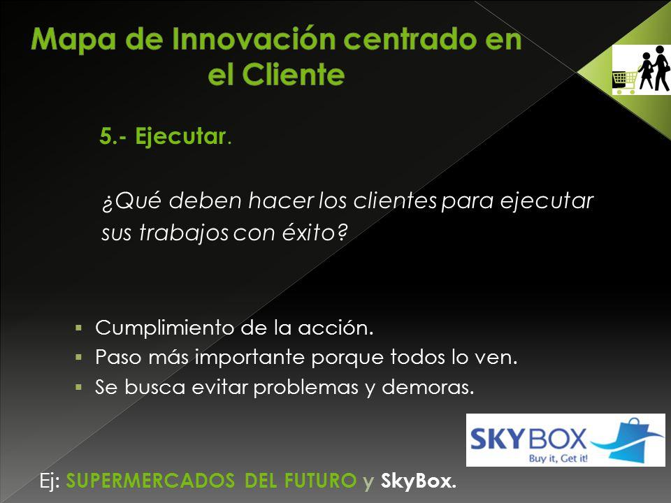 5.- Ejecutar. ¿Qué deben hacer los clientes para ejecutar sus trabajos con éxito.