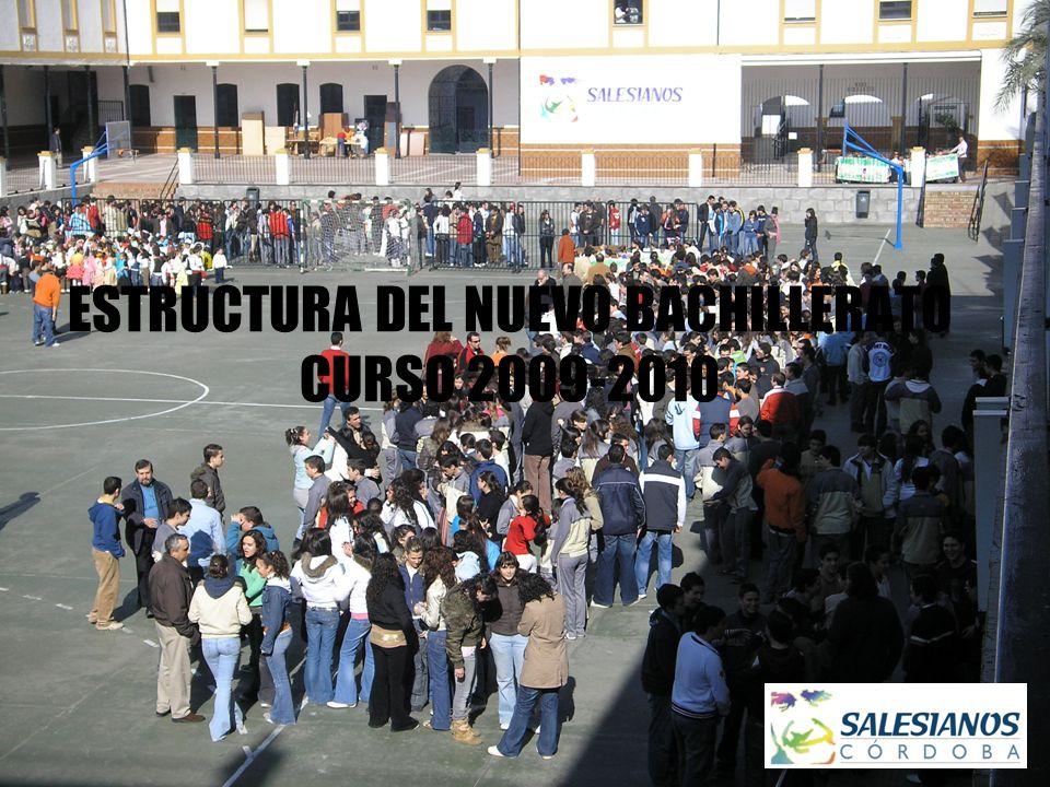 ESTRUCTURA DEL NUEVO BACHILLERATO CURSO 2009-2010