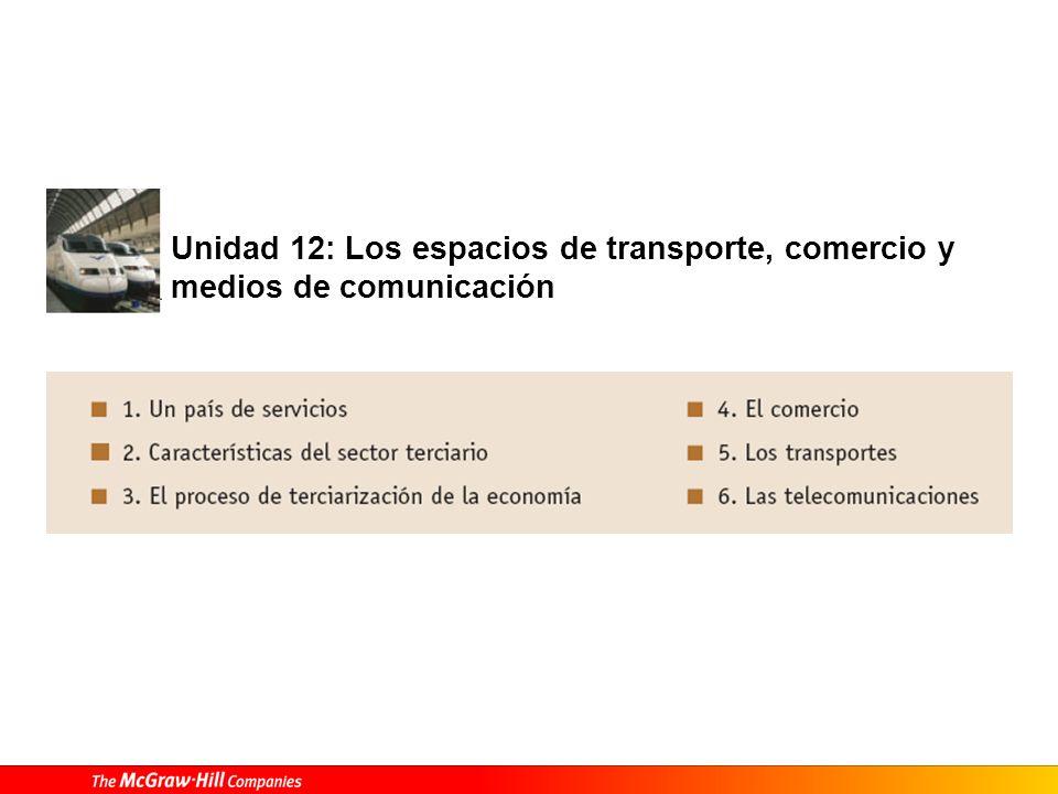 Unidad 12: Los espacios de transporte, comercio y medios de comunicación