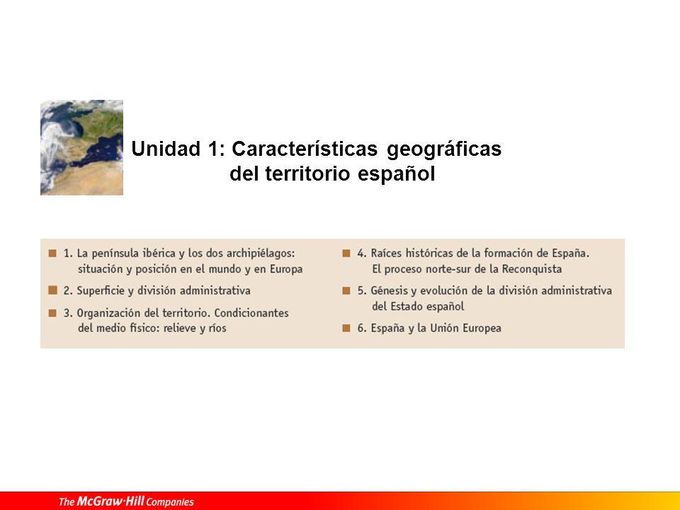 Unidad 1: Características geográficas del territorio español