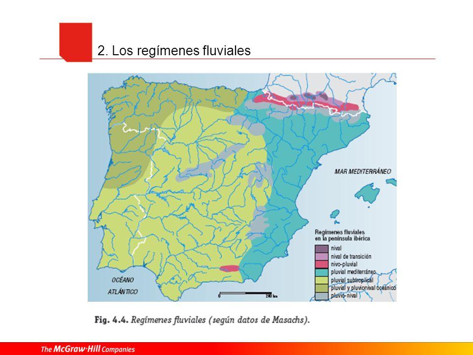 2. Los regímenes fluviales