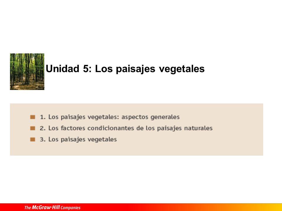 Unidad 5: Los paisajes vegetales