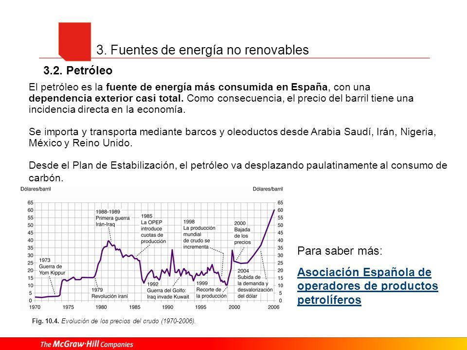 El petróleo es la fuente de energía más consumida en España, con una dependencia exterior casi total. Como consecuencia, el precio del barril tiene un