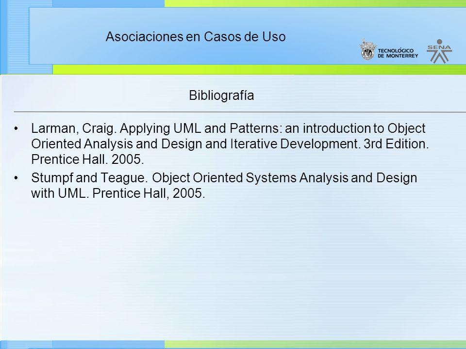 Administración de Proyectos de desarrollo de Software Ciclo de vida de un proyecto Enfoque moderno Fin de la presentación Continúe en la siguiente actividad Asociaciones en Casos de Uso