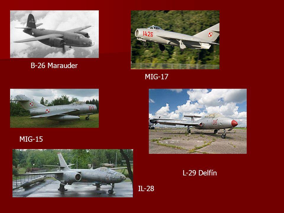 B-26 Marauder MIG-17 MIG-15 IL-28 L-29 Delfín