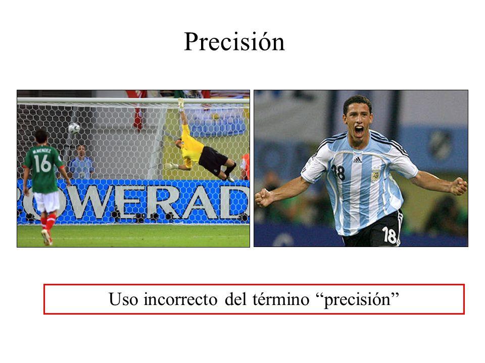 Precisión Uso incorrecto del término precisión