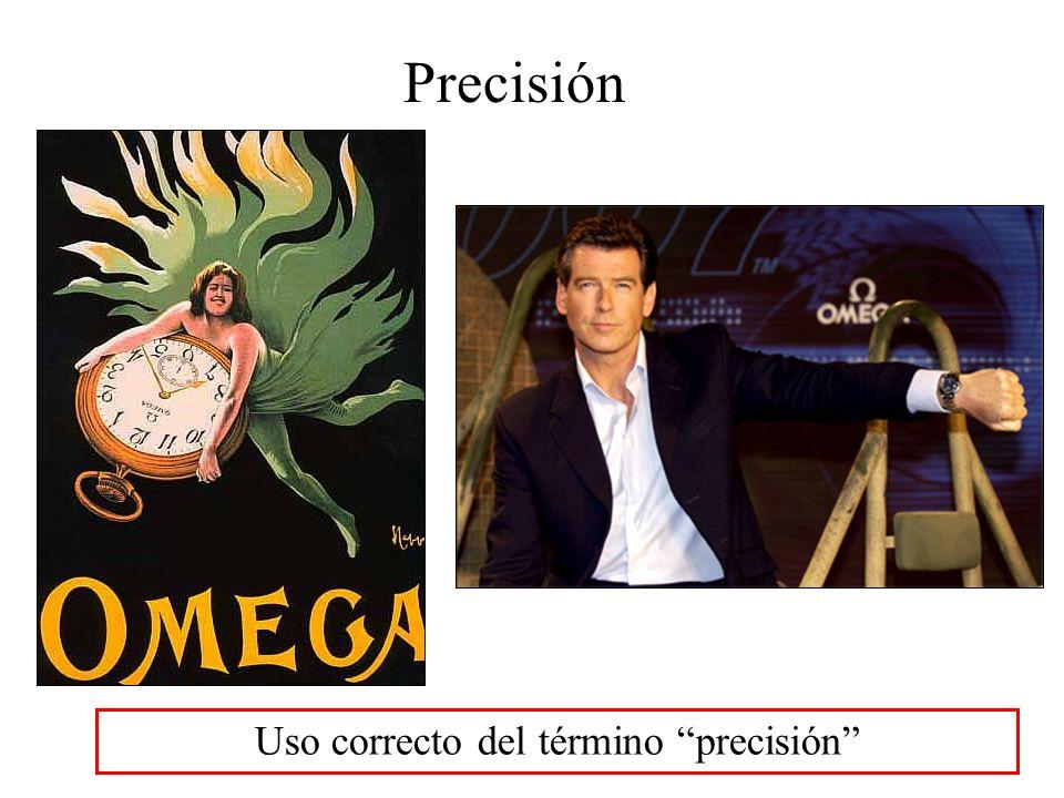 Uso correcto del término precisión Precisión