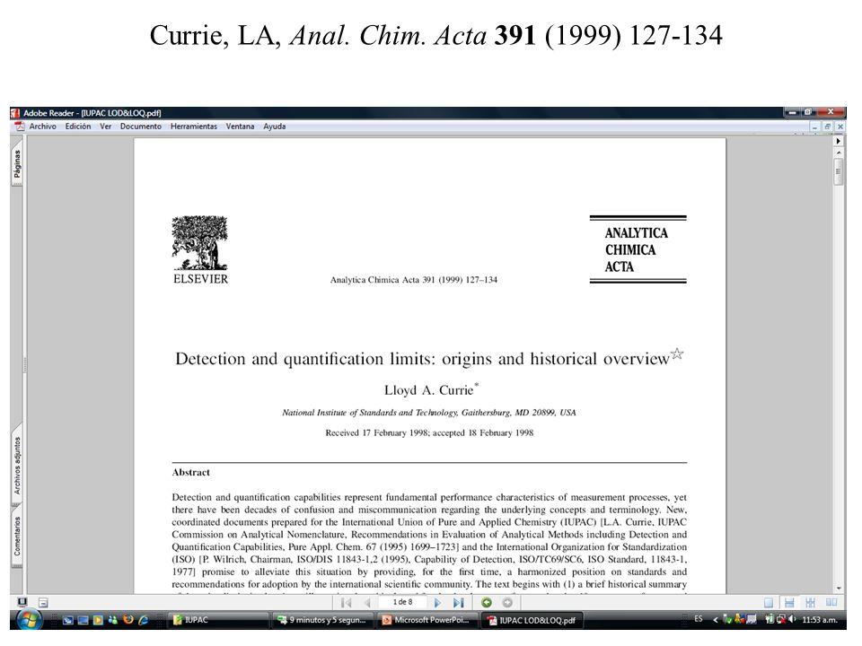 Currie, LA, Anal. Chim. Acta 391 (1999) 127-134