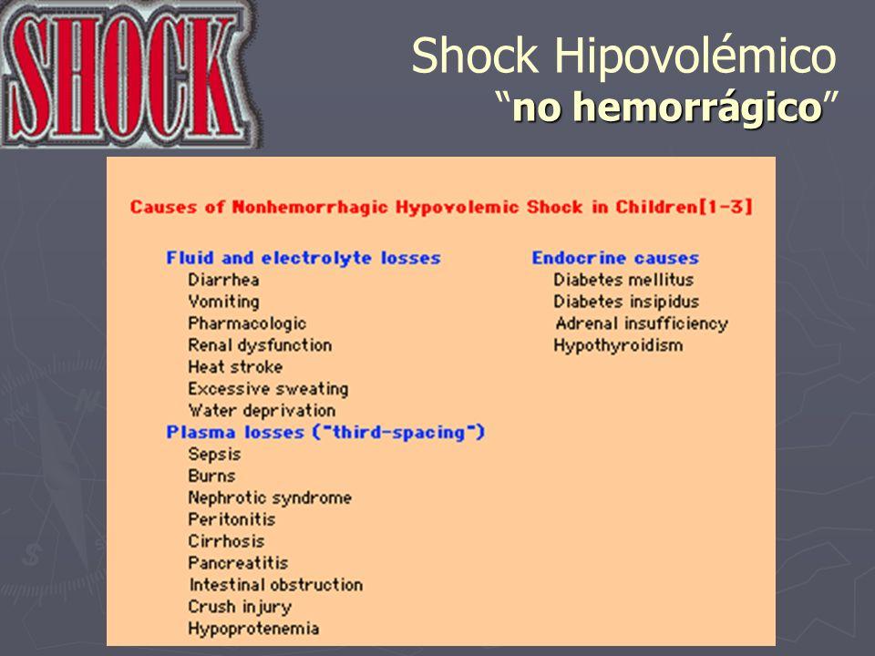 no hemorrágico Shock Hipovolémicono hemorrágico