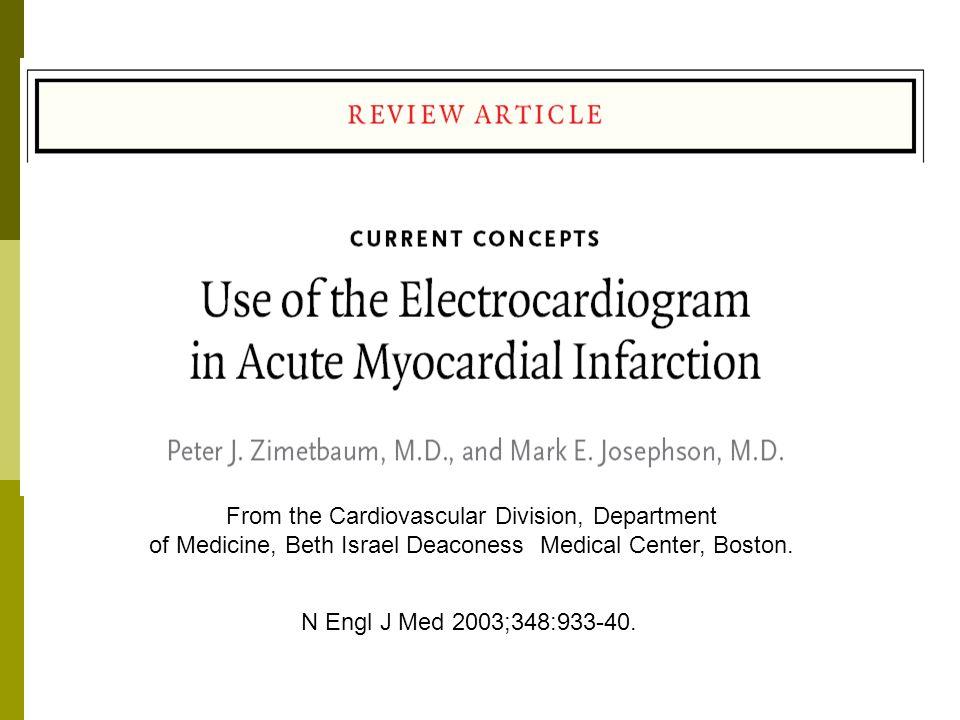 Introducción EKG como herramienta en la toma de decisiones Diagnóstico de Infarto Considerar indicación de reperfusión Predecir tamaño del infarto e indicación de revascularización Evaluar la reperfusión Diagnóstico de alteraciones del ritmo