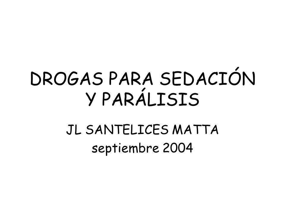 DROGAS PARA SEDACIÓN Y PARÁLISIS JL SANTELICES MATTA septiembre 2004
