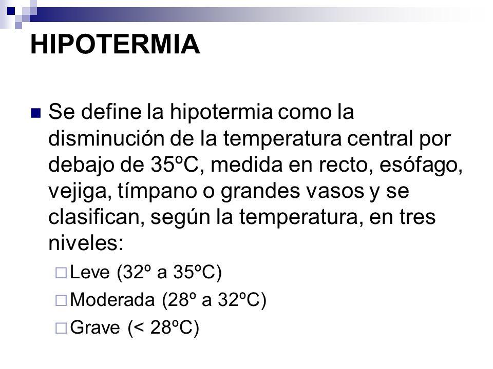 HIPOTERMIA 26,8 º C