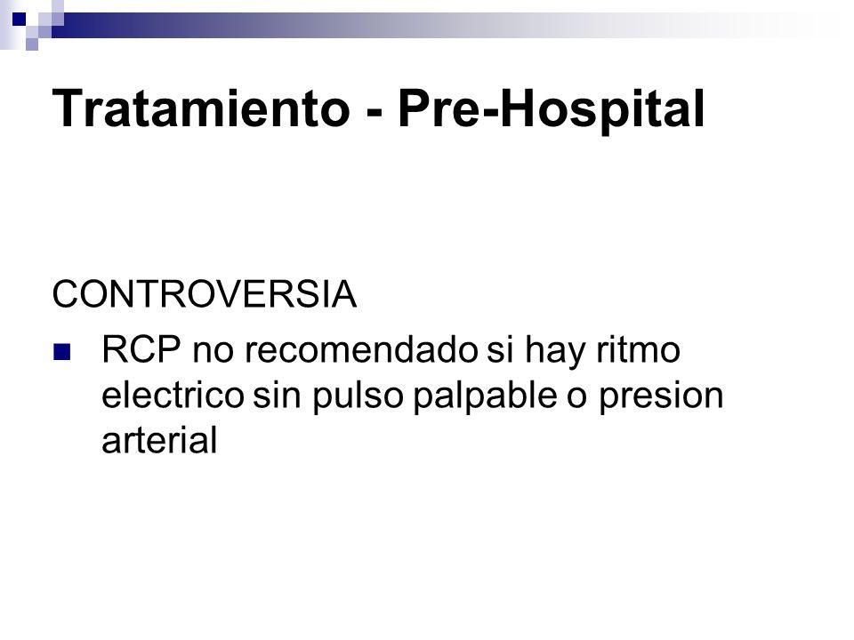 Tratamiento - Pre-Hospital Evitar arritmias cardíacas.