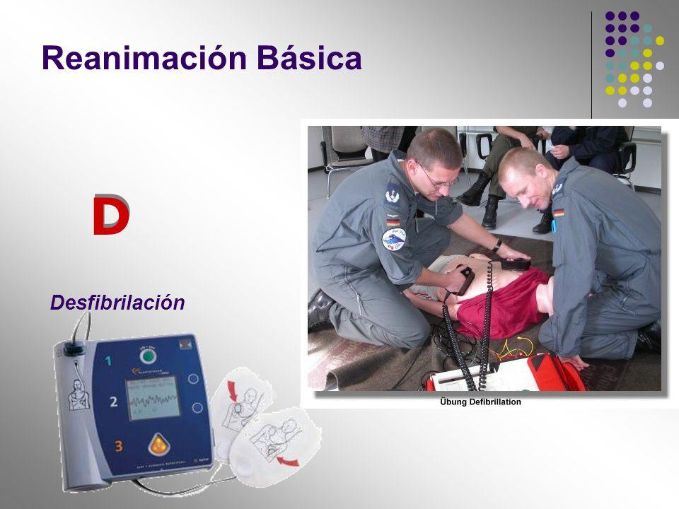Reanimación Básica Desfibrilación D D