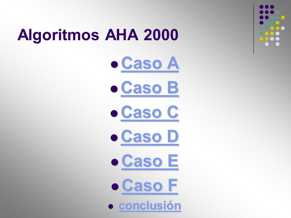 Algoritmos AHA 2000 Caso A Caso A Caso A Caso A Caso B Caso B Caso B Caso B Caso C Caso C Caso C Caso C Caso D Caso D Caso D Caso D Caso E Caso E Caso