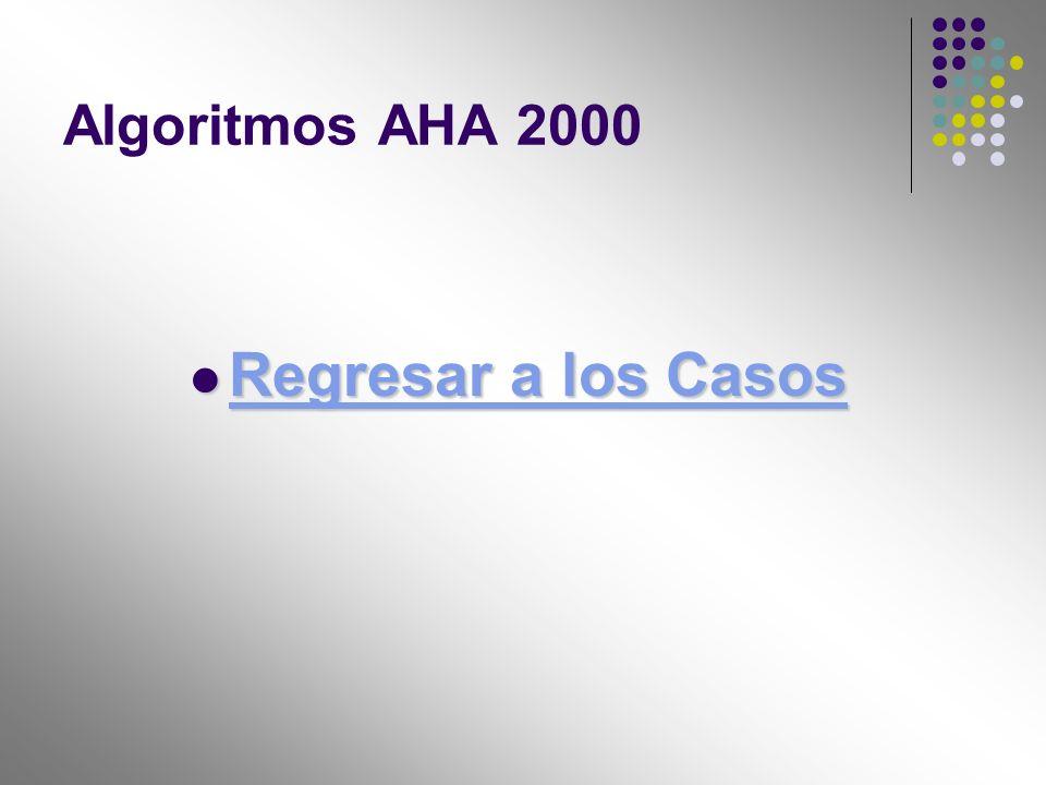 Algoritmos AHA 2000 Regresar a los Casos Regresar a los Casos Regresar a los Casos Regresar a los Casos
