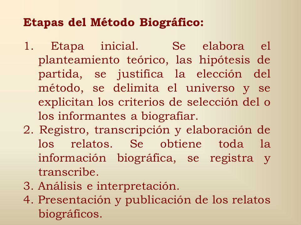 Materiales utilizados (2) 2. Registros biográficos: Se trata de aquellos que son obtenidos por el investigador a través de la encuesta: Historias de v