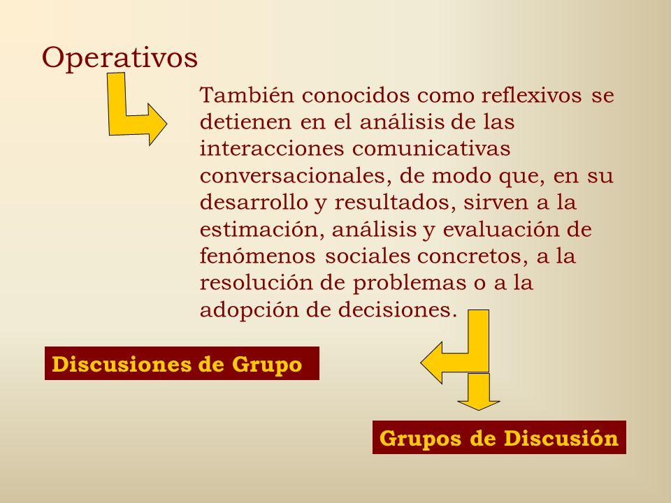 Discusiones Son las conversaciones grupales, es decir las entabladas por más de dos individuos. Para su estudio existen múltiples clasificaciones: gru