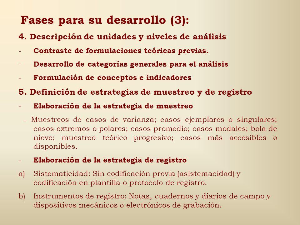 Fases para su desarrollo (2): 3. Desarrollo del planteamiento teórico - Definición del problema - Identificación del contexto sociocultural - Delimita