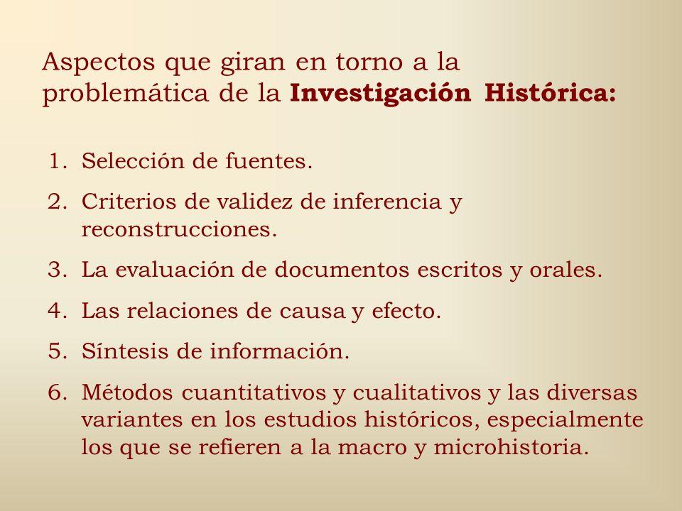 Criterios básicos en la selección de los temas de estudio: 1.Relevancia 2.Viabilidad 3.Originalidad 4.Interés personal