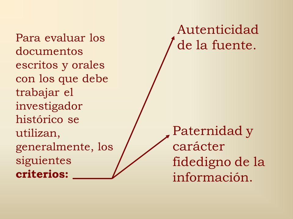 Aspectos que giran en torno a la problemática de la Investigación Histórica: 1.Selección de fuentes. 2.Criterios de validez de inferencia y reconstruc