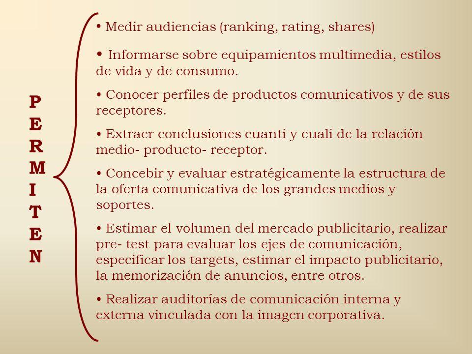 En Comunicación Social se emplean para estudiar (Piñuel y Gaitán, 1998: 144) Las mediaciones comunicacionales y sus efectos psicosociales. Las funcion