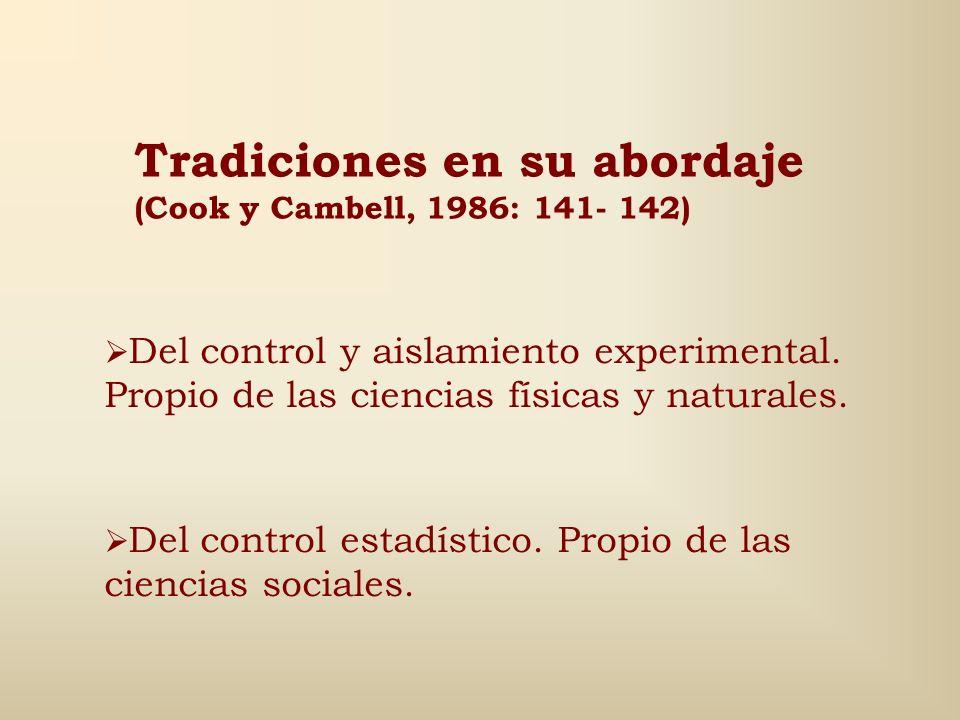 Tipos de experimentos (2) (Piñuel y Gaitán, 1998) Experimento natural El hecho se produce naturalmente, o sea, no es necesario interferir en su desarr