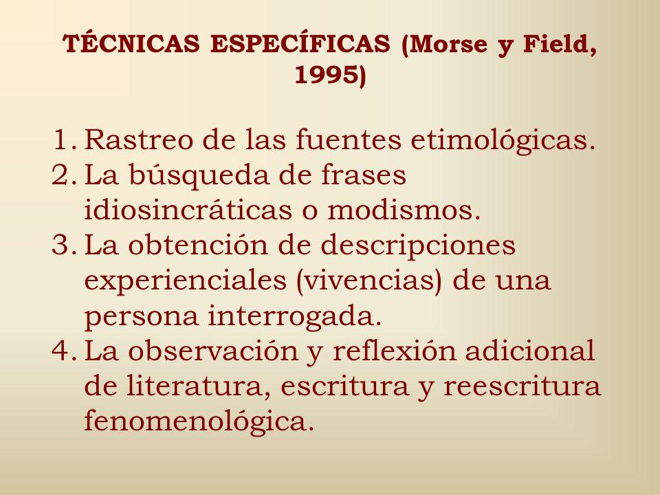6. Suspensión de las creencias (reducción fenomenológica): es lo que Rockwell (1986) llama suspensión temporal del juicio. 7. Interpretación de los si