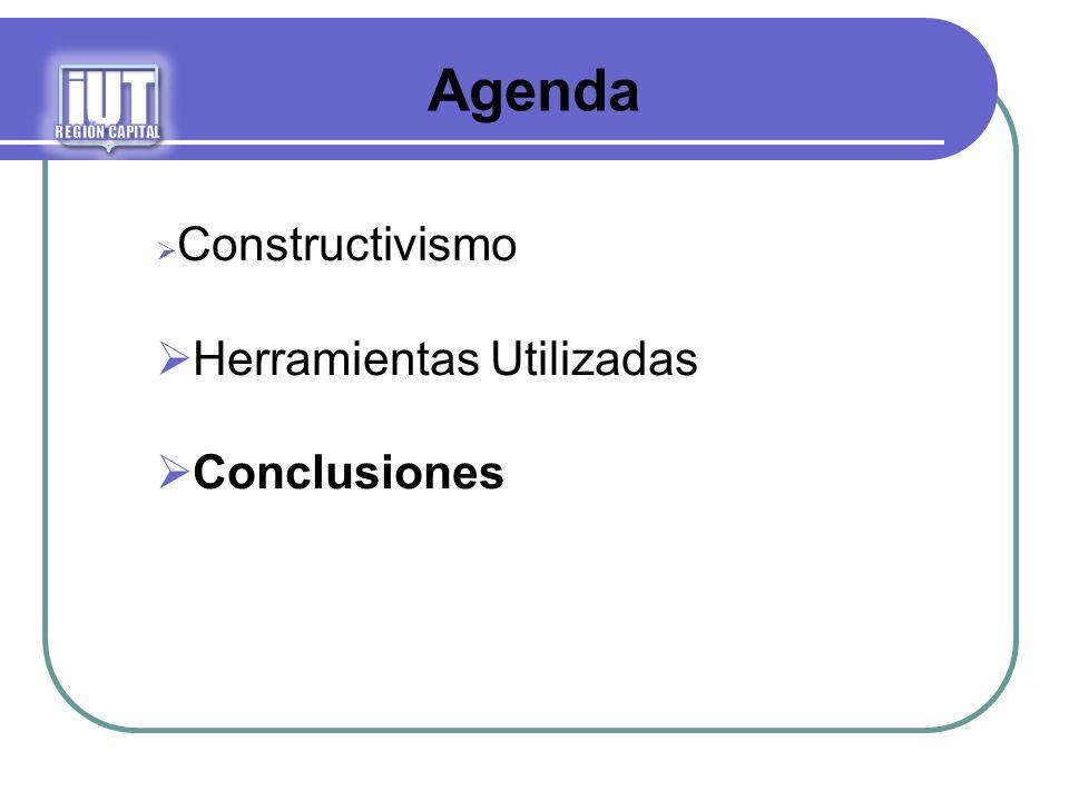 Agenda Constructivismo Herramientas Utilizadas Conclusiones