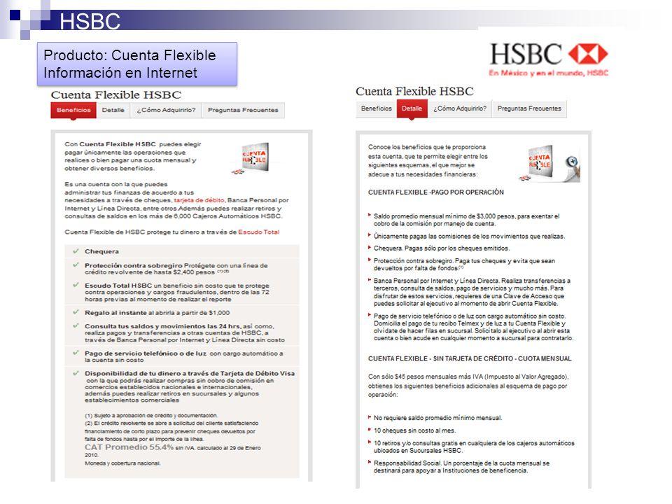 Producto: Cuenta Flexible Información en Internet Producto: Cuenta Flexible Información en Internet HSBC