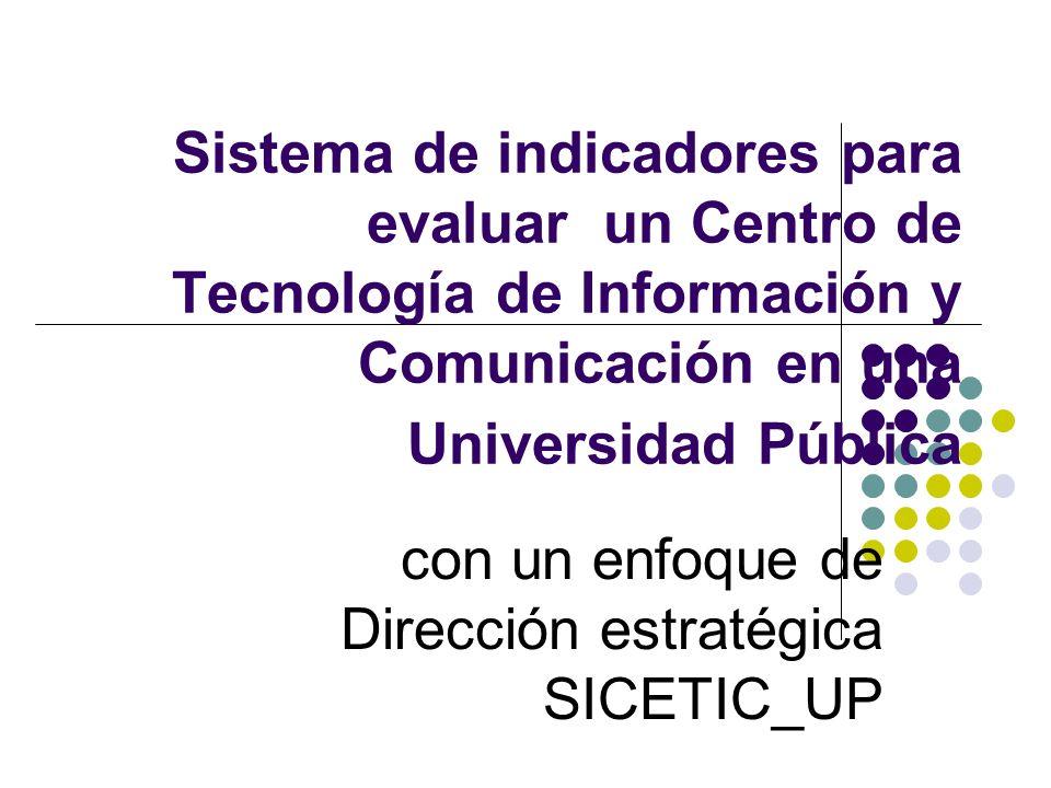 Sistema de indicadores para evaluar un Centro de Tecnología de Información y Comunicación en una Universidad Pública con un enfoque de Dirección estra