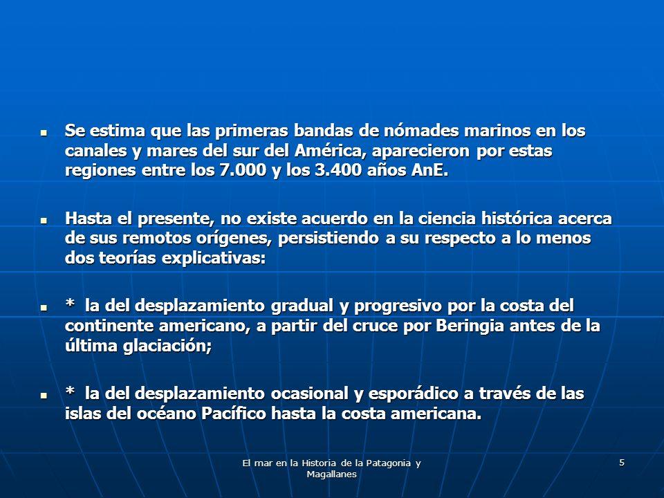 El mar en la Historia de la Patagonia y Magallanes 76 W.R.