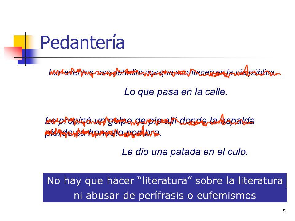 4 Extensión ideal Debe ser breve y conciso Para los textos que se suelen seleccionar en las P.A.U.