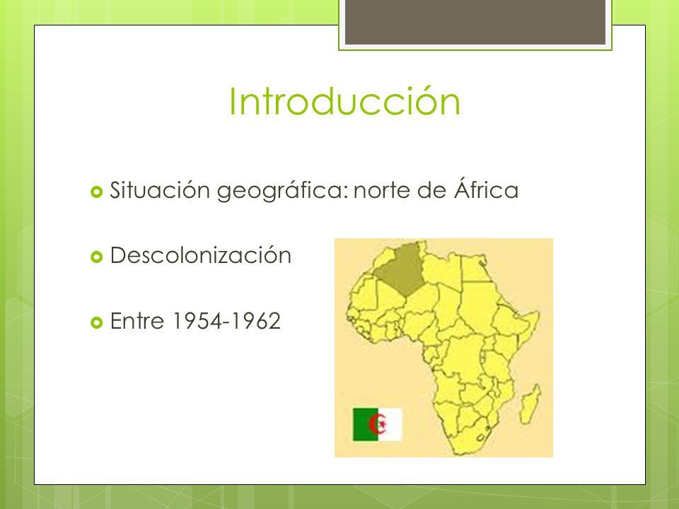 Desarrollo bélico Sentimiento independentista argelino Tipo de conflicto: guerra de guerrillas FLN contra el ejército francés y Harkis (locales) Localizada Psicológica