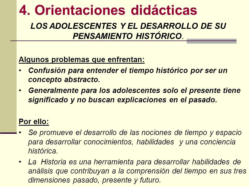 LOS ADOLESCENTES Y EL DESARROLLO DE SU PENSAMIENTO HISTÓRICO.