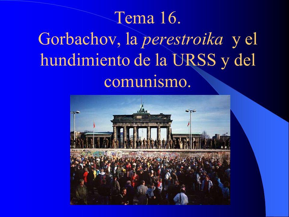 Tema 16. Gorbachov, la perestroika y el hundimiento de la URSS y del comunismo.