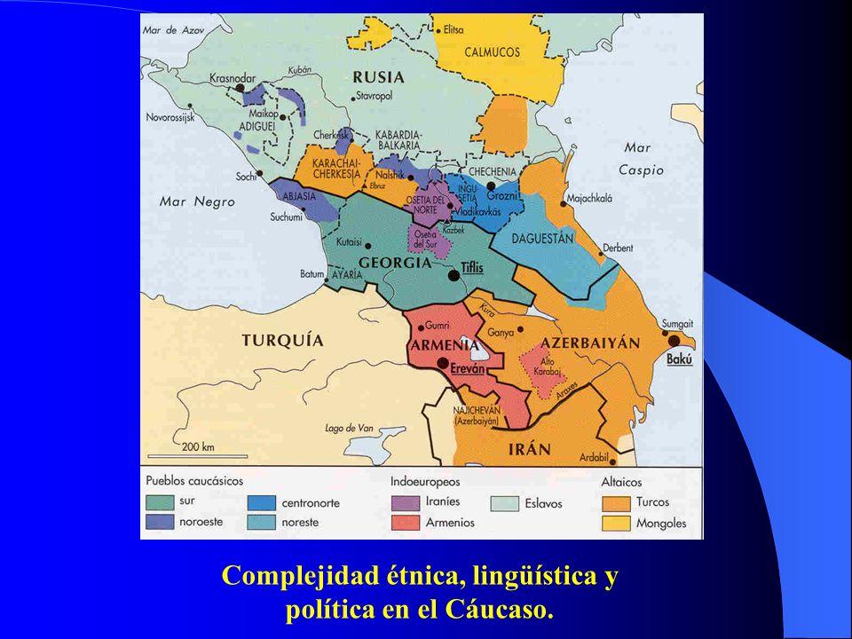 Complejidad étnica, lingüística y política en el Cáucaso.