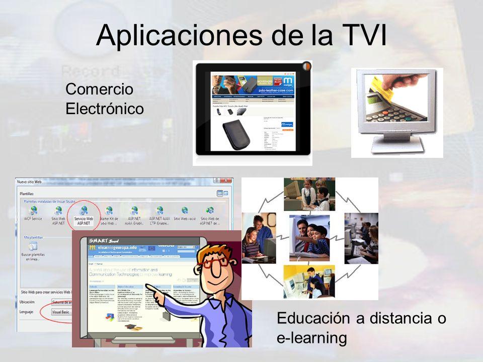 Aplicaciones de la TVI Comercio Electrónico Educación a distancia o e-learning