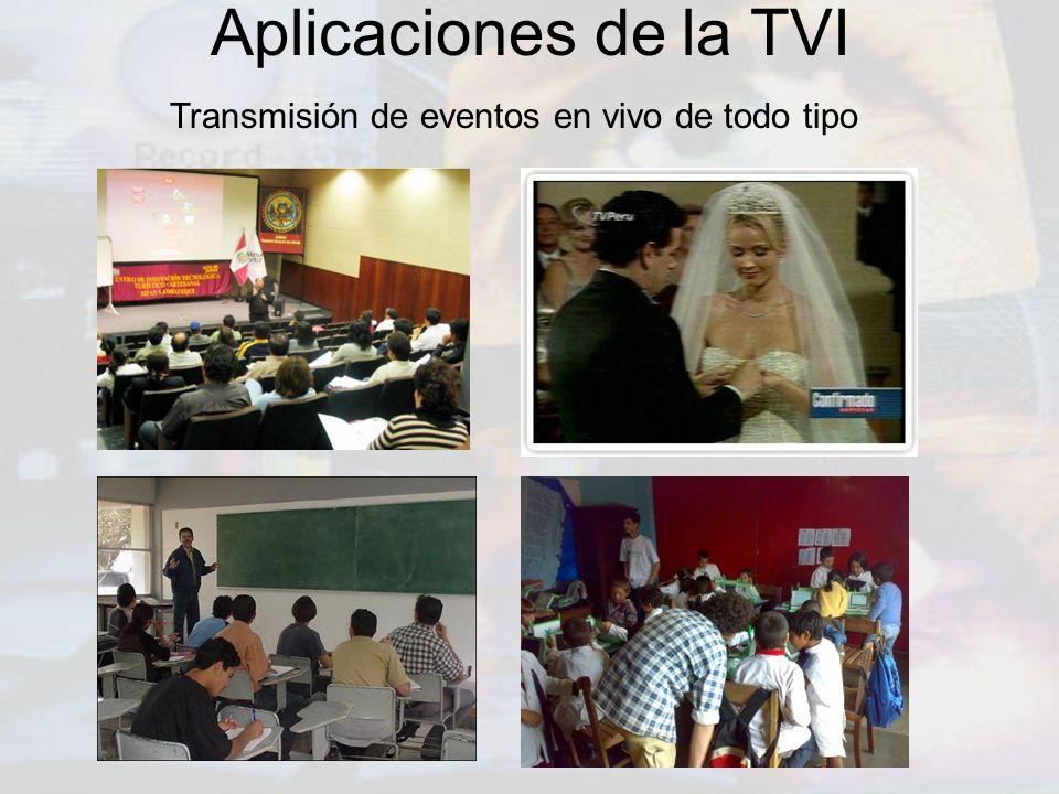 Aplicaciones de la TVI Transmisión de eventos en vivo de todo tipo