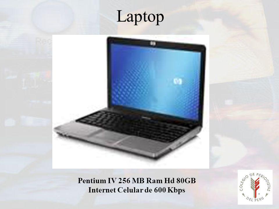Laptop Pentium IV 256 MB Ram Hd 80GB Internet Celular de 600 Kbps