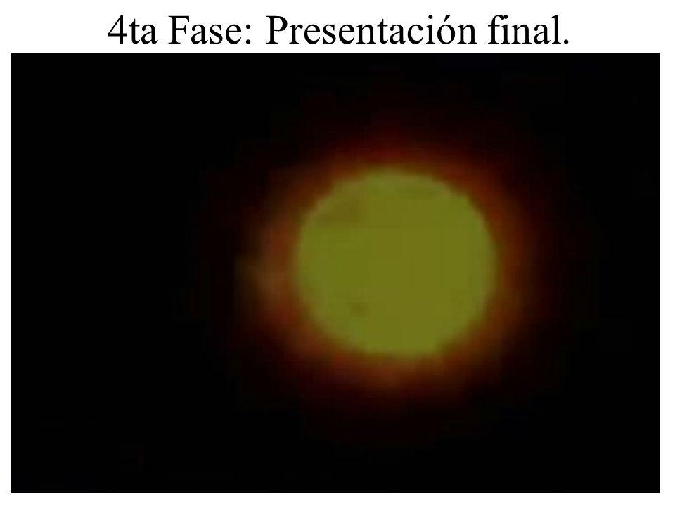 4ta Fase: Presentación final.